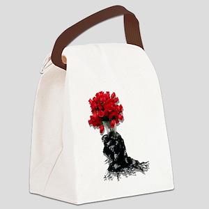 RosesBlackShawl072310 Canvas Lunch Bag