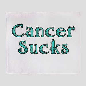 CANCER SUCKS Throw Blanket