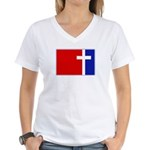 Major League Christianity Women's V-Neck T-Shirt