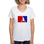 Major League Bungee Jumping Women's V-Neck T-Shirt