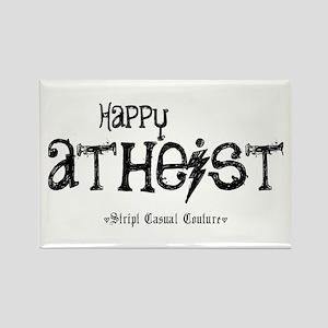 Happy Atheist Rectangle Magnet