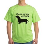 Check Out My Wiener Green T-Shirt