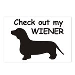 Check Out My Wiener Postcards (Package of 8)