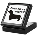Check Out My Wiener Keepsake Box