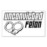 Unconvicted Felon Rectangle Sticker