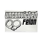 Unconvicted Felon Rectangle Magnet (100 pack)