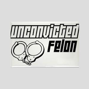 Unconvicted Felon Rectangle Magnet
