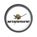 Pitch My Tent Wall Clock