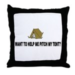 Pitch My Tent Throw Pillow
