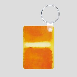 ROTHKO ORANGE AND WHITE LIGHT Keychains
