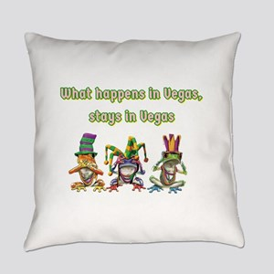 No Evil Vegas Frogs Everyday Pillow