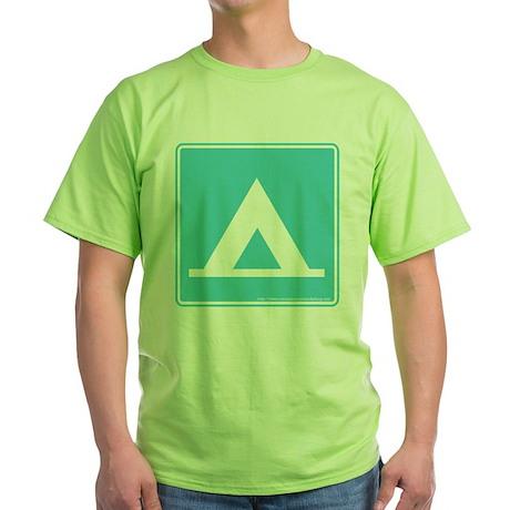 Camping Sign Green T-Shirt