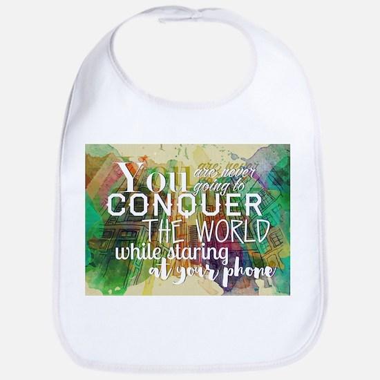 Conquer the World Bib