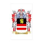 Weinschenk Sticker (Rectangle 50 pk)