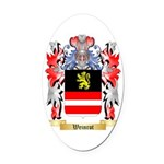 Weinrot Oval Car Magnet