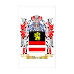 Weinrot Sticker (Rectangle 50 pk)