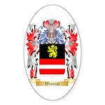 Weinrot Sticker (Oval 50 pk)