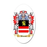 Weinrot 20x12 Oval Wall Decal