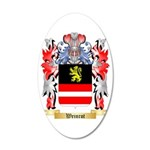 Weinrot 35x21 Oval Wall Decal