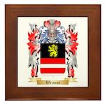 Weinrot Framed Tile