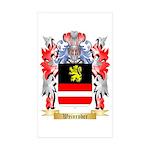 Weinrober Sticker (Rectangle 50 pk)