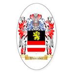 Weinrober Sticker (Oval)