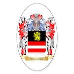 Weinrober Sticker (Oval 10 pk)