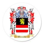 Weinrebe Round Car Magnet