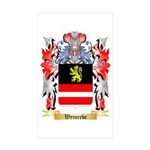 Weinrebe Sticker (Rectangle 50 pk)