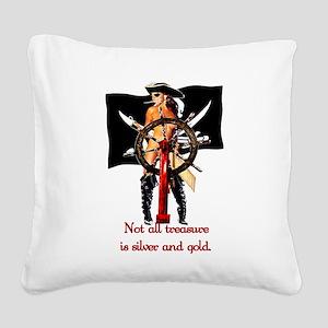 piratebabe Square Canvas Pillow