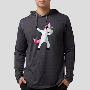 Unicorn Dab Mens Hooded Shirt