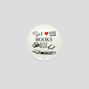 I (heart) Books Mini Button (10 pack)