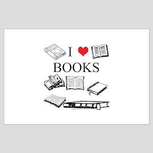 I (heart) Books Large Poster