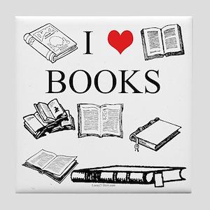 I (heart) Books Tile Coaster