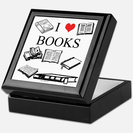 I (heart) Books Keepsake Box