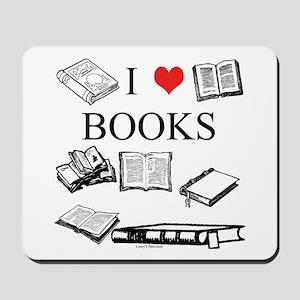 I (heart) Books Mousepad