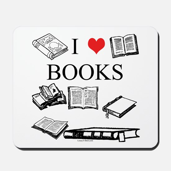 I (heart) Books Mousepad