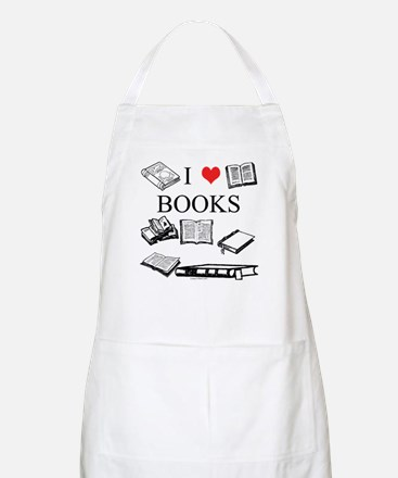 I (heart) Books BBQ Apron