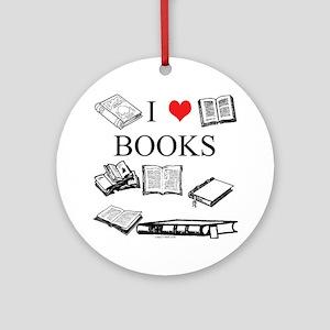 I (heart) Books Ornament (Round)