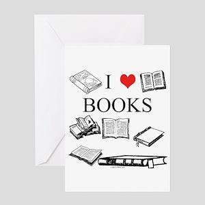 I (heart) Books Greeting Card