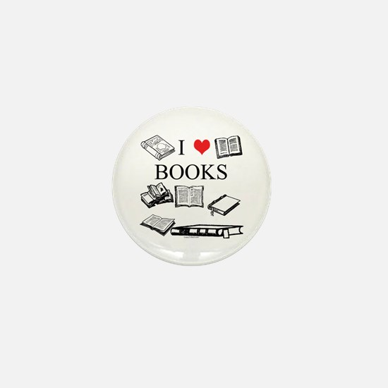 I (heart) Books Mini Button