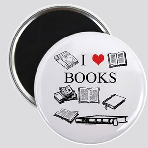I (heart) Books Magnet