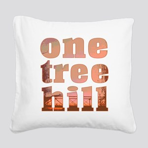 One Tree Hill Square Canvas Pillow