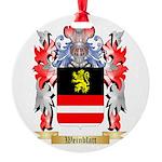 Weinblatt Round Ornament