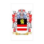 Weinblatt Sticker (Rectangle 50 pk)