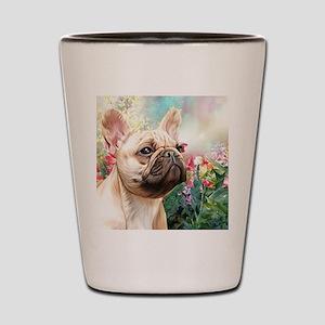 French Bulldog Painting Shot Glass