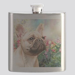 French Bulldog Painting Flask
