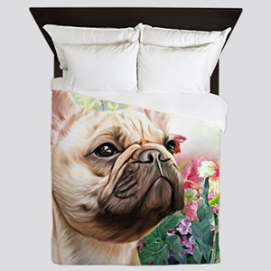 French Bulldog Painting Queen Duvet