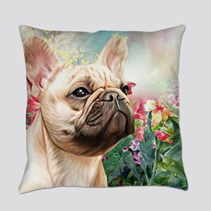 French Bulldog Painting Everyday Pillow