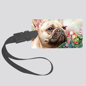 French Bulldog Painting Luggage Tag